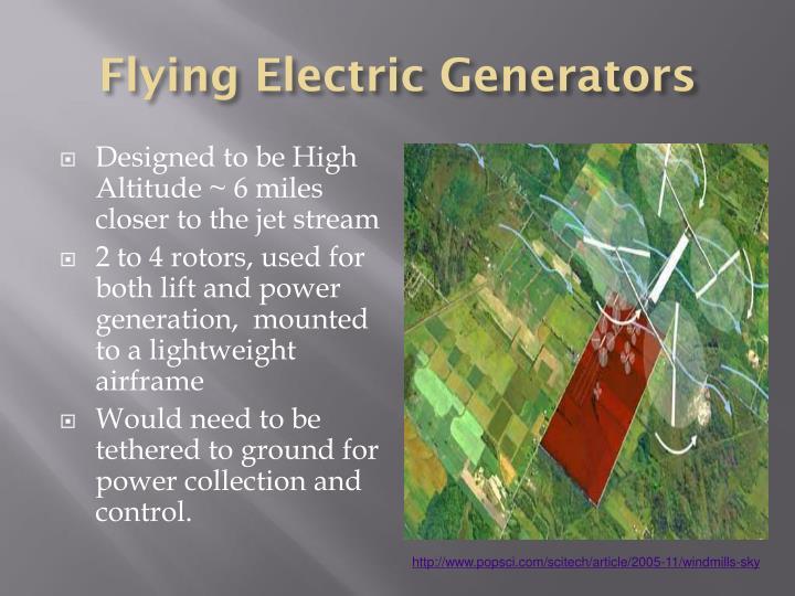 Flying Electric Generators