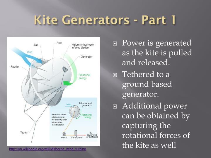 Kite Generators - Part 1