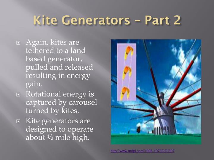 Kite Generators – Part 2