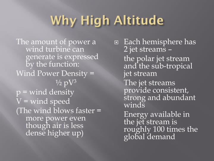 Why High Altitude