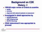 background on c2k history 1