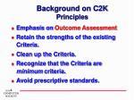 background on c2k principles