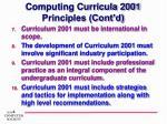 computing curricula 2001 principles cont d