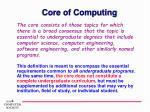 core of computing