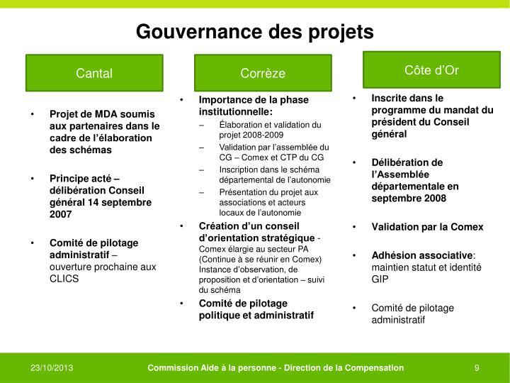 Gouvernance des projets