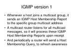 igmp version 1