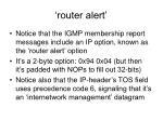 router alert
