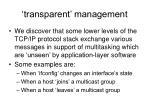 transparent management