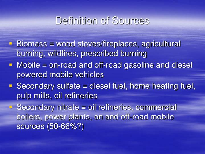 Definition of Sources