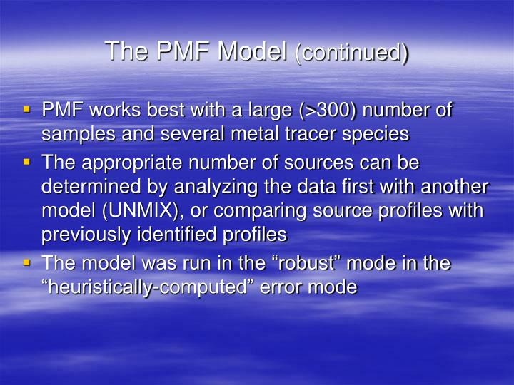 The PMF Model