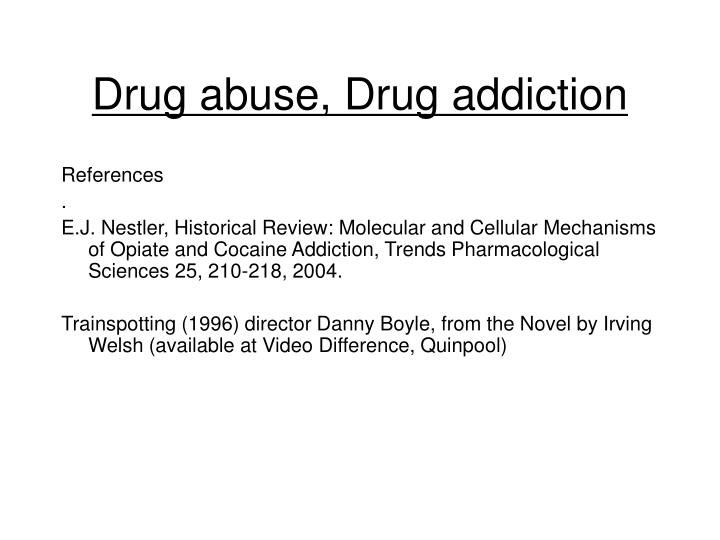 Drug abuse drug addiction1