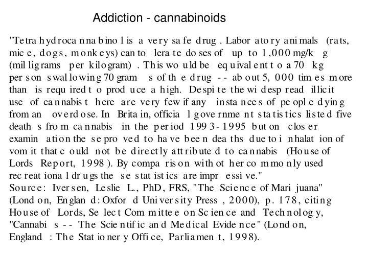 Addiction - cannabinoids