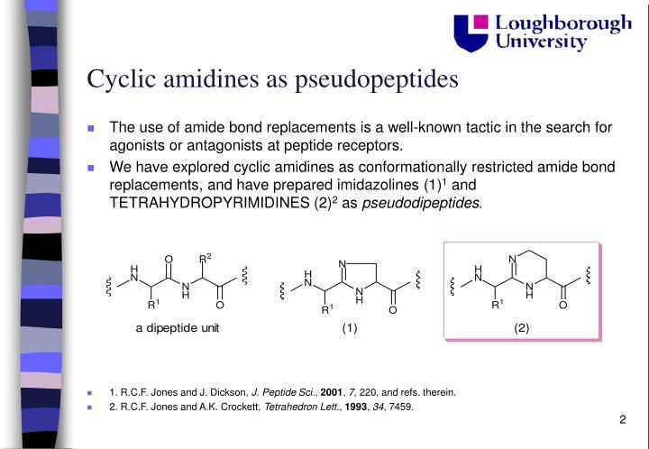 Cyclic amidines as pseudopeptides