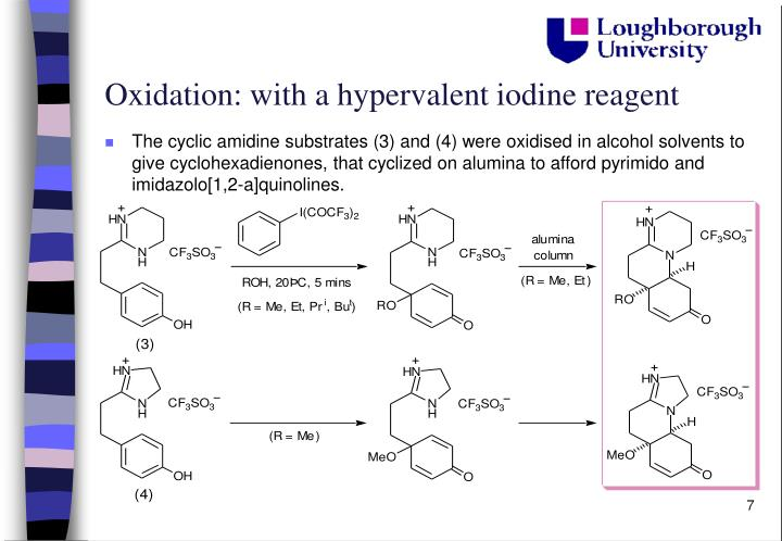 Oxidation: with a hypervalent iodine reagent