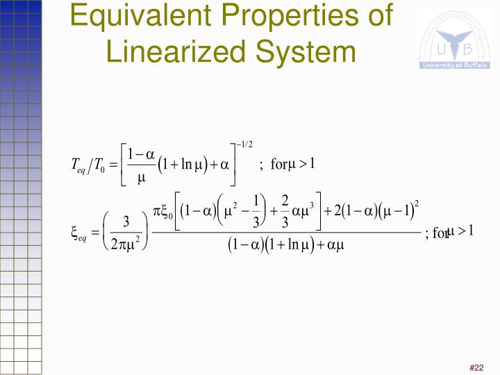 Equivalent Properties of Linearized System
