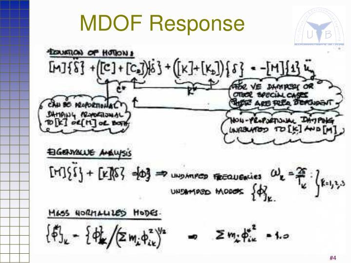 MDOF Response