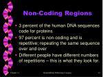 non coding regions
