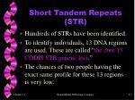 short tandem repeats str1