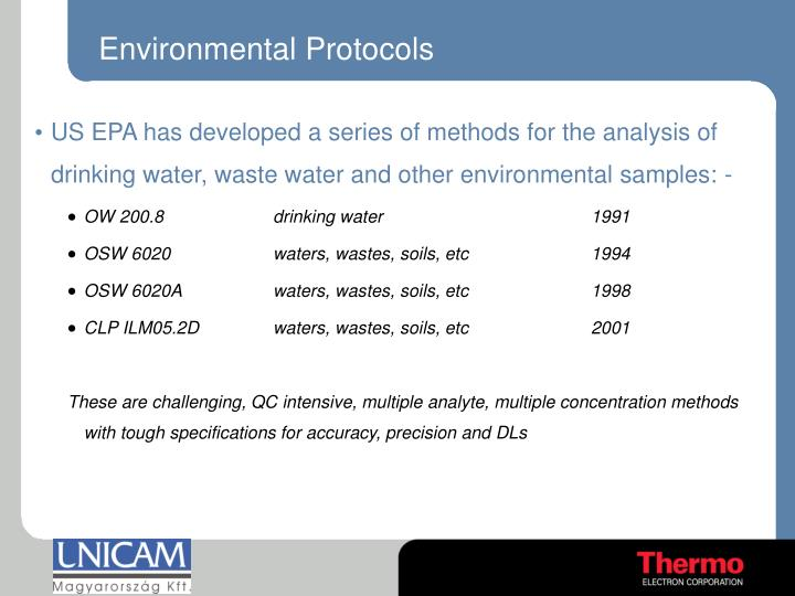 Environmental Protocols