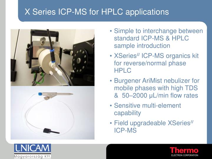 X Series ICP-MS for HPLC applications