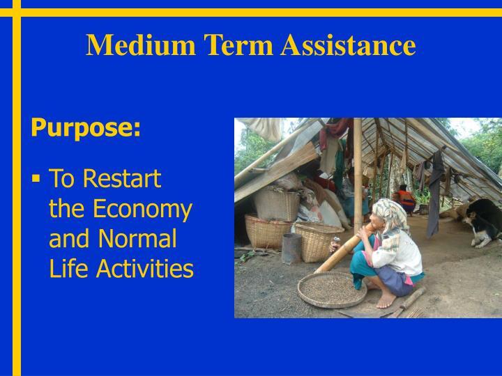 Medium Term Assistance