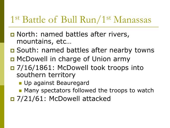 1 st battle of bull run 1 st manassas