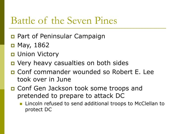 Battle of the Seven Pines