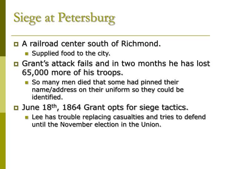 Siege at Petersburg