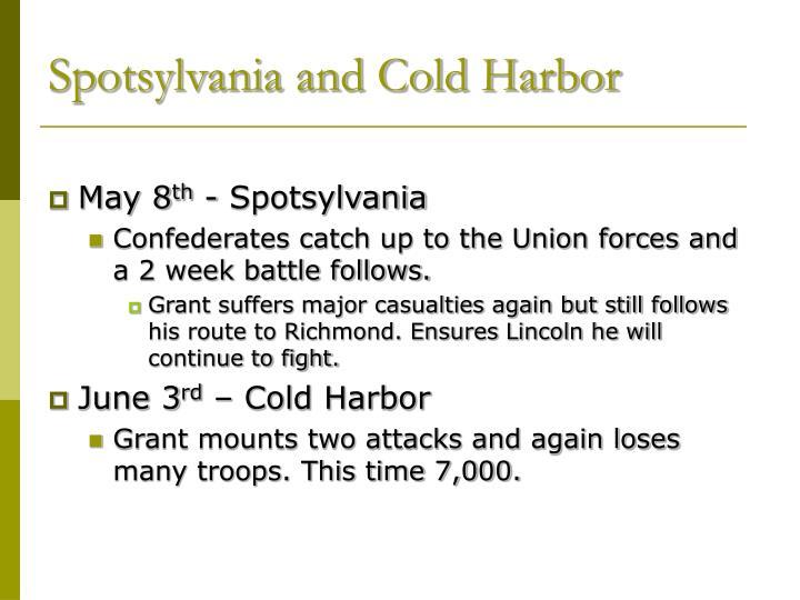 Spotsylvania and Cold Harbor