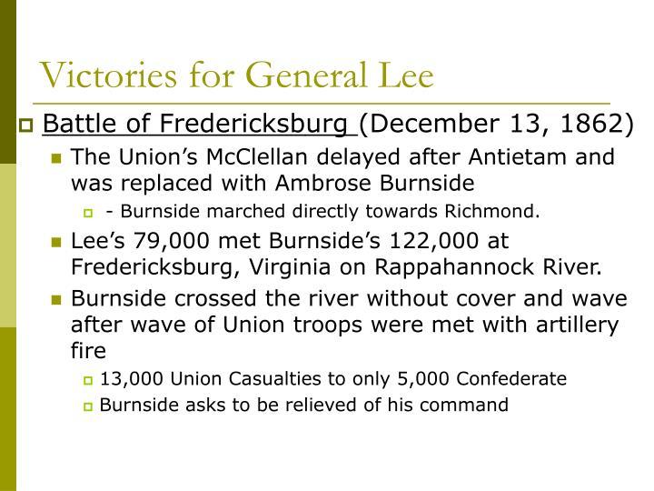 Victories for General Lee