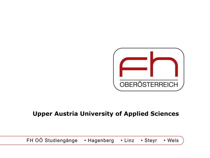 upper austria university of applied sciences n.