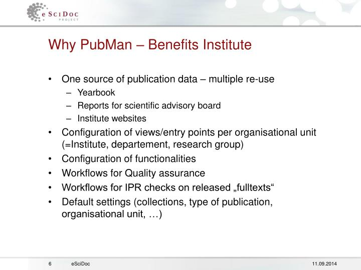 Why PubMan – Benefits Institute