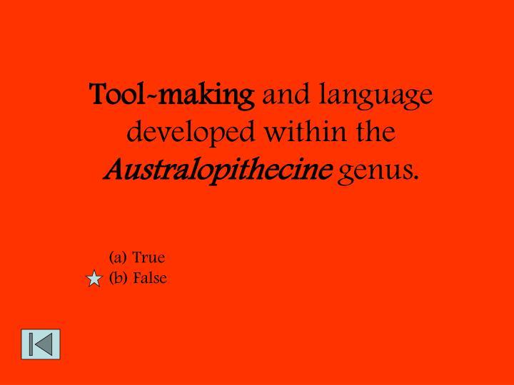 Tool-making