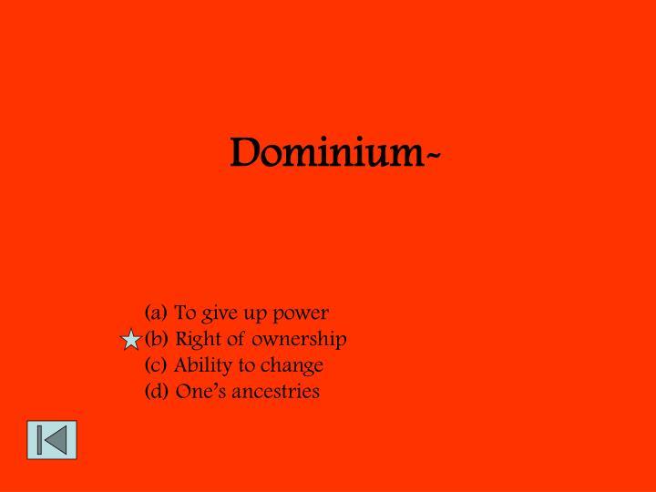 Dominium-