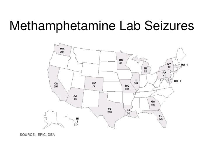 Methamphetamine Lab Seizures