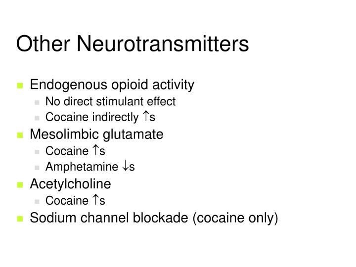 Other Neurotransmitters