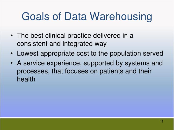 Goals of Data Warehousing