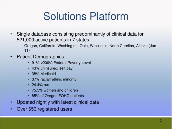 Solutions Platform