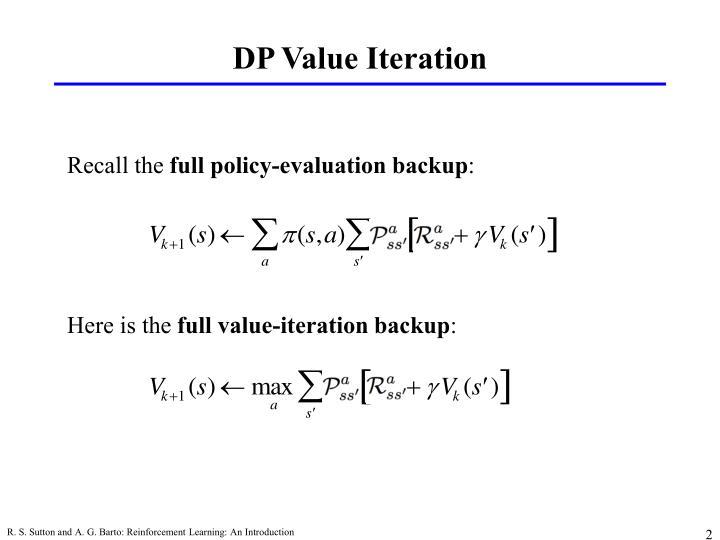 Dp value iteration
