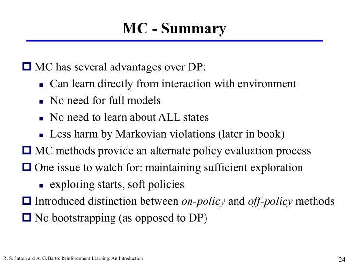 MC - Summary