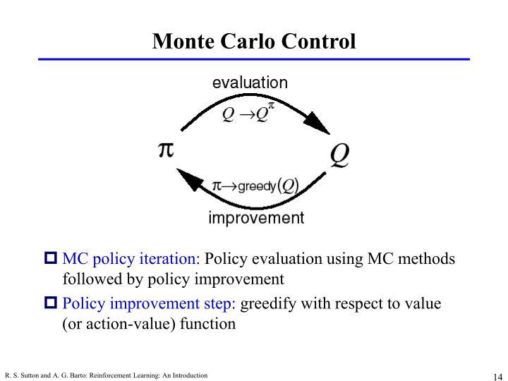 Monte Carlo Control