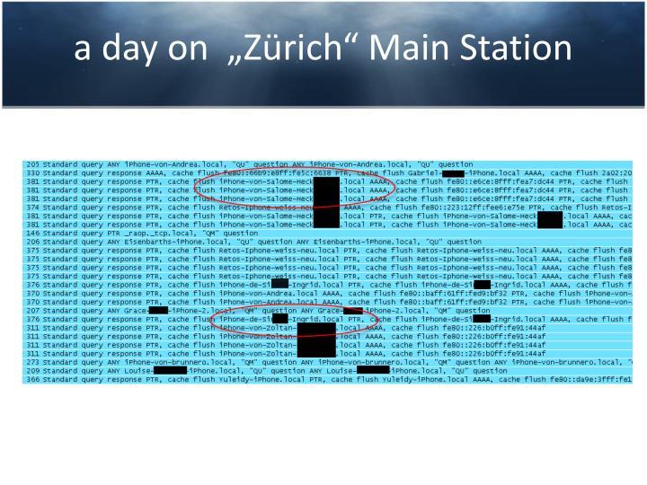"""a day on  """"Zürich"""" Main Station"""