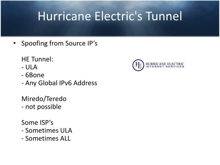 Hurricane Electric's Tunnel