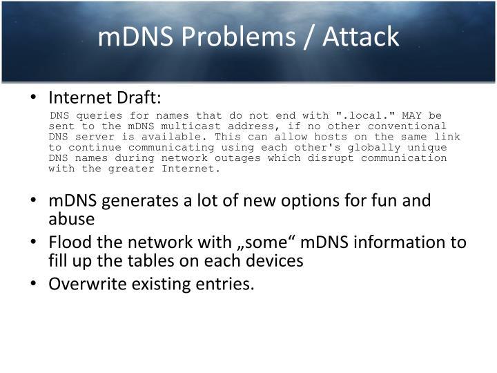 mDNS Problems / Attack