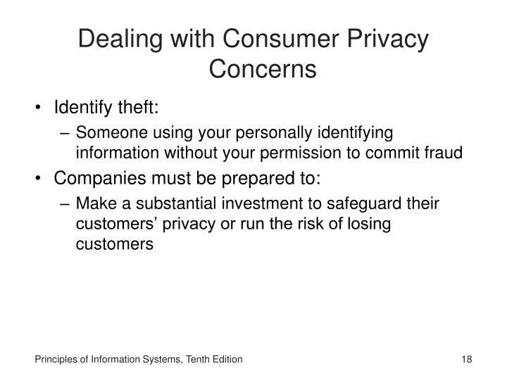 Dealing with Consumer Privacy Concerns