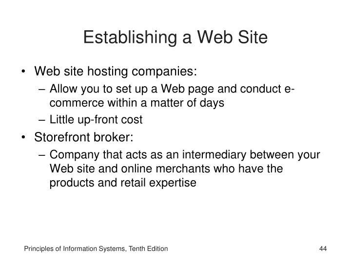 Establishing a Web Site