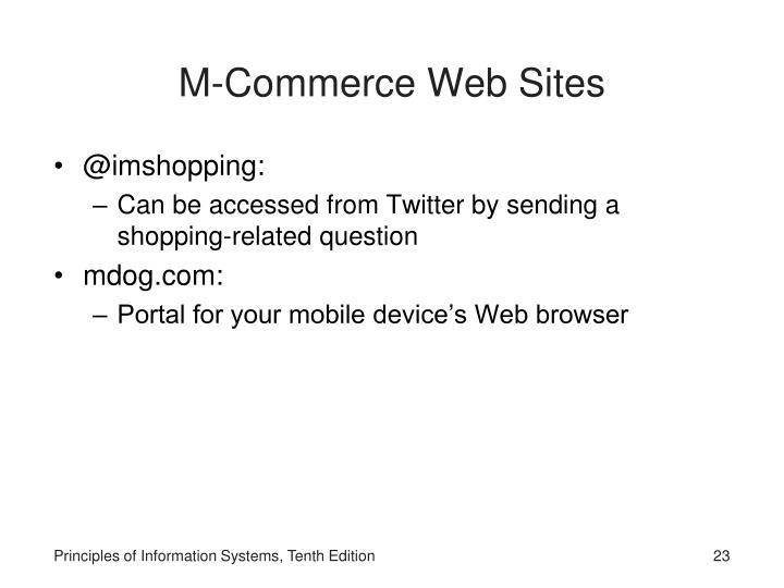 M-Commerce Web Sites