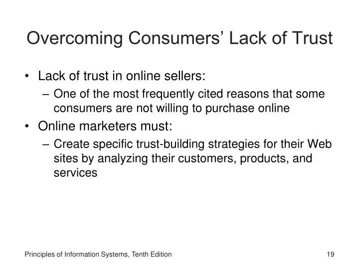 Overcoming Consumers' Lack of Trust