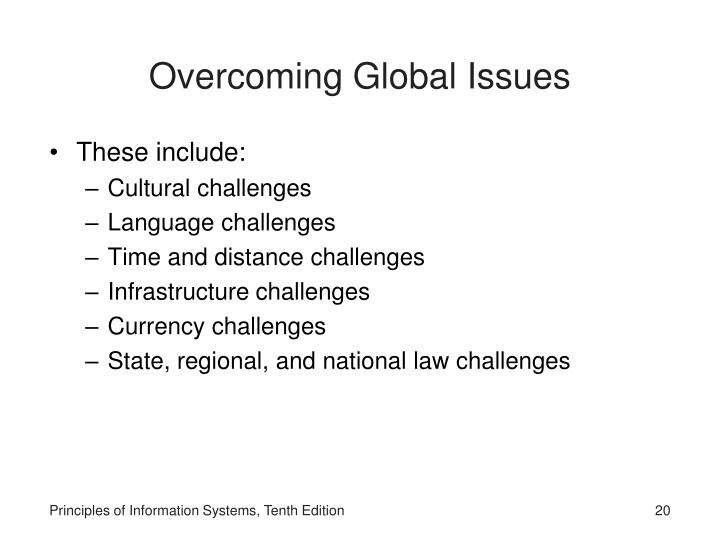 Overcoming Global Issues