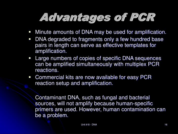 Advantages of PCR